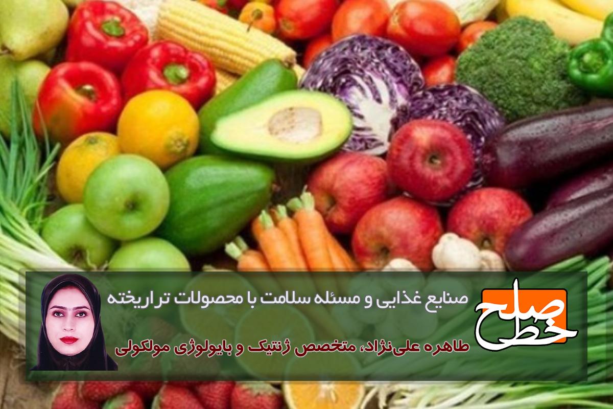 صنایع غذایی و مسئله سلامت با محصولات تراریخته/طاهره علی نژاد